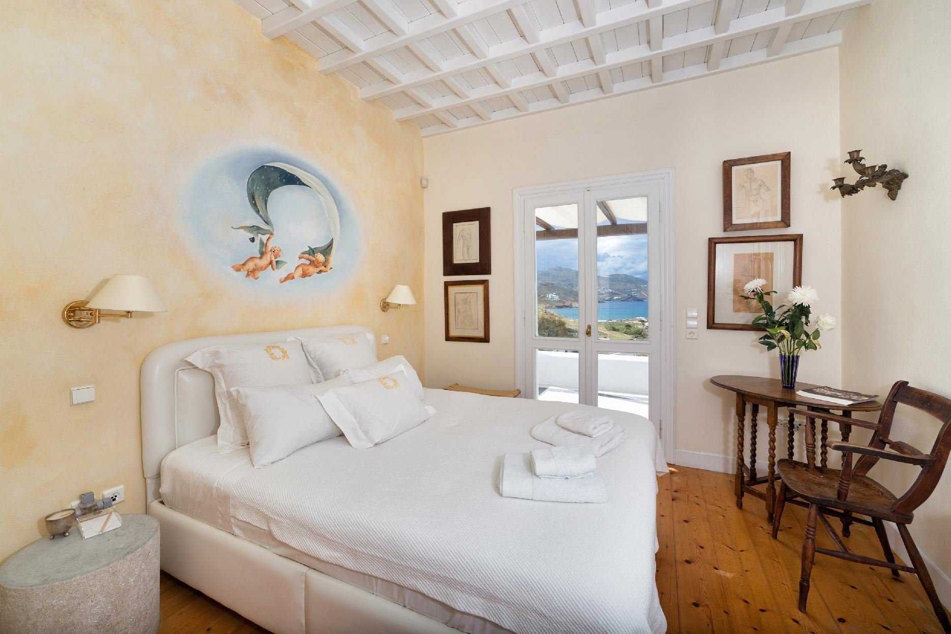 Apartment The Galaxy Mykonos villa with large pool and yoga platform photo 6005323