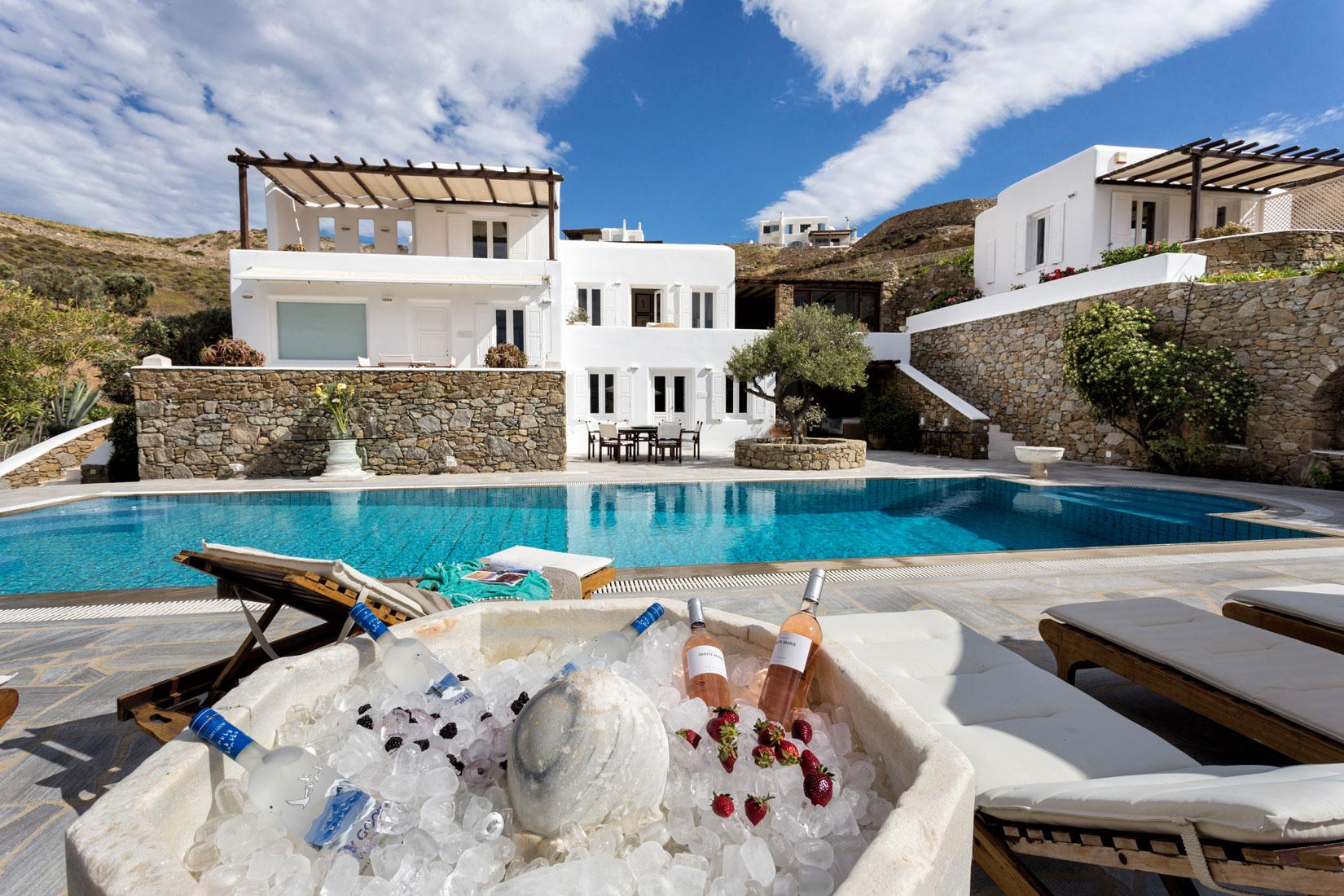 Apartment The Galaxy Mykonos villa with large pool and yoga platform photo 6005342