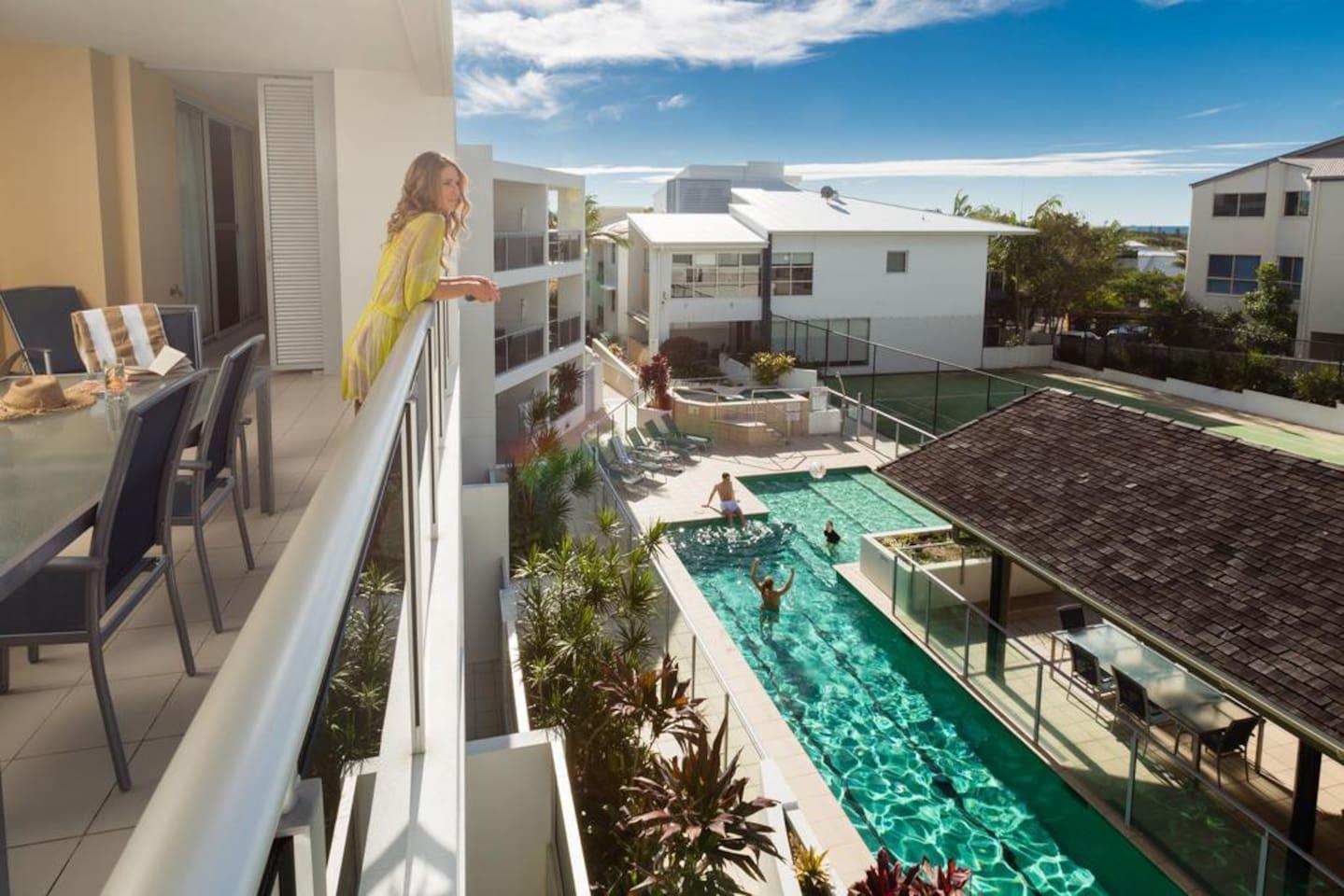Apartment 2BR Coolum Beach    Rooftop Terrace   Spa   Tennis   Pool photo 26289867